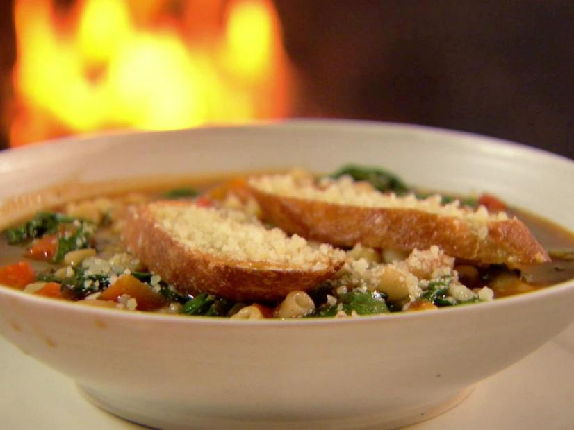 Ina Garten's Winter Minestrone and Garlic Bruschetta from Food Network
