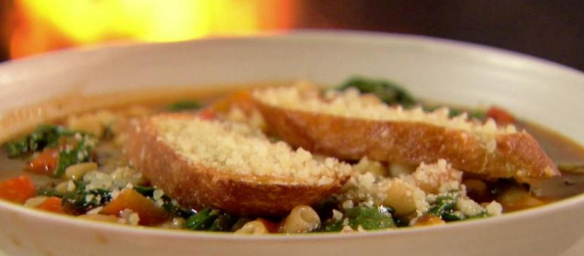 Ina Garten's Winter Minestrone and Garlic Bruschetta from Food Network